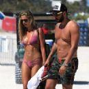 Sandra Kubicka in Pink Bikini at the beach in Miami - 454 x 681