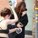 Dakota Johnson – Leaves the gym with a friend in Studio City