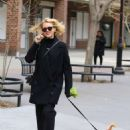 Naomi Watts walks her dog in New York