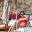 Tatiana Dieteman in Red Bikini on vacationing in Mexico - 454 x 681