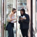 Lily-Rose Depp with Leila Bekhti – Pictured at Cafe Quartier General in Paris - 454 x 651