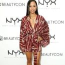 Karrueche Tran attends the NYX Cosmetics VIP lounge during BeautyCon LA! at The Reef on July 11, 2015 in Los Angeles, California
