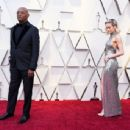 Brie Larson and Samuel L. Jackson attend the 91st Annual Academy Awards - Arrivals - 454 x 343
