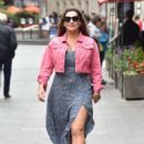 Kelly Brook – Leaves Heart Radio show at the Global Studios in London