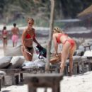 Ashley Tisdale in Red Bikini at a beach in Mexico - 454 x 418