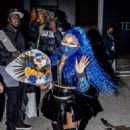 Lil' Kim – Leaves Barclays Center after performing at halftime for the Brooklyn Nets