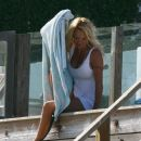 Pamela Anderson At The Beach In Malibu, 2008-05-18