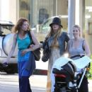 Blake Lively with her sister Robyn and friends in Beverly Hills, CA (July 24)