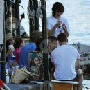 Vanessa Hudgens and Austin Butler mingled with model Luciana Gimenez Morad and her son Lucas Jagger in Portofino, Italy - 19 June 2016