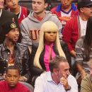 Blac Chyna and Tyga at The Clippers Game in Los Angeles - November 16, 2012 - 454 x 255