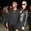 Amber Rose and Kanye West Attend amfAR Milano 2009 red carpet, the Inaugural Milan Fashion Week event at La Permanente in Milan, Italy - September 28, 2009 - 402 x 594