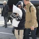 Katy Perry: arrived at JFK Airport in Queens