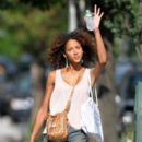 Noemie Lenoir Shopping In New York City