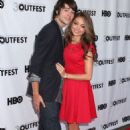 Sarah Hyland and Matt Prokop at the 2012 Outfest Closing Night Gala For 'Struck By Lightning' (July 22) - 454 x 717