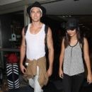 Victoria Justice and the boy toy  are seen arriving at LAX on August 29, 2015