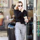 Lucy Hale – Leaving Starbucks in Studio City