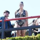 Ashley Graham in Swimsuit for Her Swimsuit Line in Los Angeles - 454 x 369