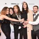Chelsea Tyler, Mia Tyler, Steven Tyler, Liv Tyler and Taj Tallarico attend 'Steven Tyler...Out on a Limb' Show to Benefit Janie's Fund in Collaboration with Youth Villages - Red Carpet at David Geffen Hall on May 2, 2016 in New York