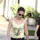 Kristen Stewart Shopping at the Balenciaga clothing store