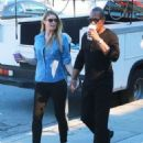 Paige Butcher and Eddie Murphy Stop By Coffee Bean In Studio City