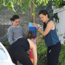 Jennifer Garner has fun with her family in Brentwood