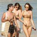 Alessandra Ambrosio in Bikini on vacation in Mykonos