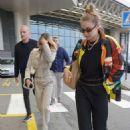 Gigi and Bella Hadid – Arrives at Milan Malpensa Airport