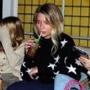 Lottie Moss at the Bluebird Cafe on the Kings Road in Chelsea - 454 x 516