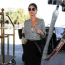 Lily Aldridge seen at LAX