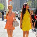 Bella Thorne and Zendaya were spotted at their hotel, August 2, in New York City. The duo spent the day promoting their hit Disney show, Shake It Up