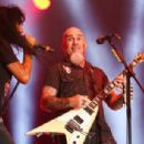 Joey Belladonna performs on stage during Rock in Rio 2019 - Day 5 at Cidade do Rock on October 04, 2019 in Rio de Janeiro, Brazil