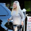 Tori Spelling in Ripped Jeans – Out in Beverly Hills - 454 x 303