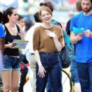Emma Stone – Films 'Billy on the Street' set in New York City - 454 x 667