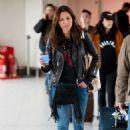 Melanie Sykes – Arrives at Heathrow Airport in London