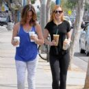 Rumer Willis In Tights At Starbucks In West Hollywood