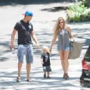 Josh Duhamel and Fergie take Axl to play school