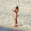 Alessandra Ambrosio in Purple Bikini on the Bahamas