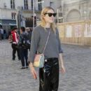 Camille Rowe – Arriving at Etam Fittings at Paris Fashion Week