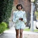 Kat Graham in Mini Dress – Out in Los Angeles - 454 x 619