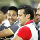 Salman khan at Mumbai Heroes Vs Chennai Rhinos Cricket league 2012