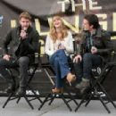 Jennifer Lawrence, Josh Hutcherson and Liam Hemsworth wrapped up The Hunger Games National Mall tour at University Village shopping center in Seattle last night, March 10