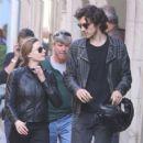 Rebecca Ferguson and her boyfriend Leave 'Mission Impossible 6' set in Paris - 454 x 423