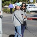 Calista Flockhart with her dogs off at a pet boutique in Brentwood - 454 x 681