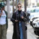 Hailey Bieber – Out for lunch in West Hollywood