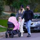 Sophie Turner – Takes her daughter out for a walk in Los Angeles