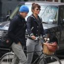 Helena Christensen Out in NYC