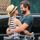 Couple Diane Kruger and Joshua Jackson spotted out and about in New York City, New York on July 8, 2015