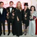(L-R) Michael Zegen, Daniel Palladino, Amy Sherman-Palladino, Alex Borstein and Rachel Brosnahan At The 70th Primetime Emmy Awards - Press Room (2018) - 454 x 303