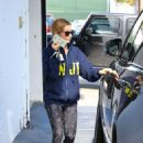 Ashley Tisdale Leaves The Gym In Melrose
