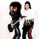 Steve Stevens with Michael Jackson
